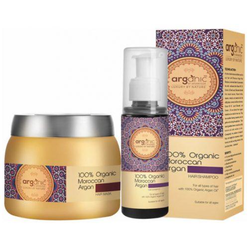 Moroccan Aargan Hair Shampoo & Hair Mask Combo Pack